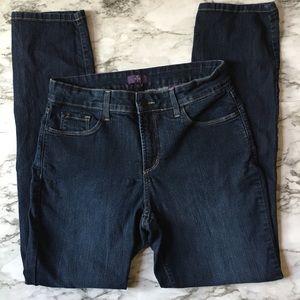 NYDJ straight, legging style jeans, SIZE: 10